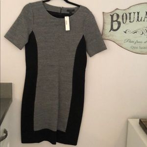 J crew black/grey midi dress